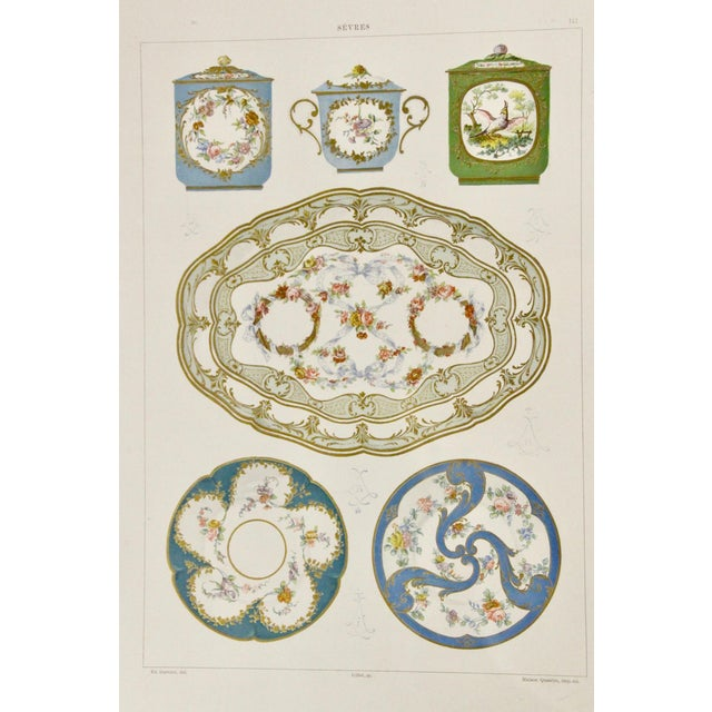 Sevres Porcelain Illustrated Plates, S/4 For Sale - Image 4 of 9