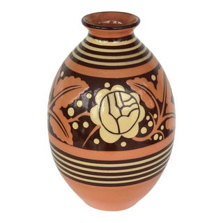 Belgian Art Deco Ceramic Vase by Charles Catteau For Sale