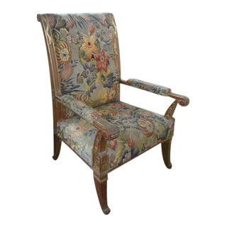 Rare 19th Century French Louis XVI Style Gilt Wood Chair For Sale