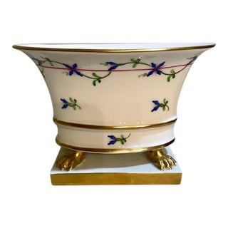 Herend Small Urn on Gold Footed Pedestal