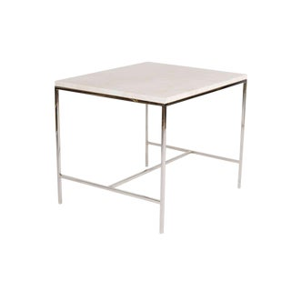 Hunter Travertine Top Side Table For Sale