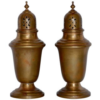 Pair of Gorham Giftware Copper Salt and Pepper Shakers L27 For Sale