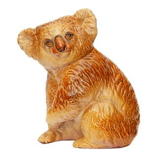 Large Vintage Italian Majolica Koala Bear Figurine For Sale