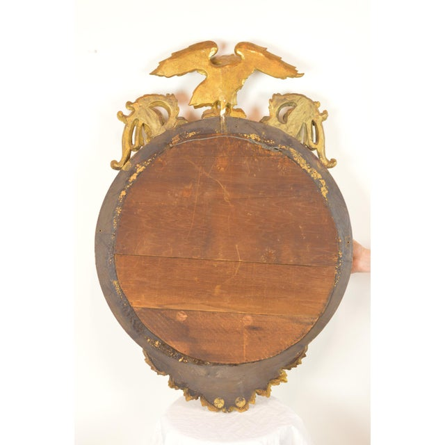 Federal-Style Gilt Convex Mirror - Image 4 of 8