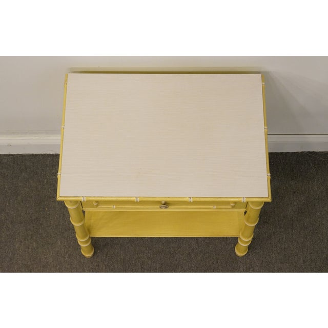 Thomasville Vintage Thomasville Furniture Allegro Collection Asian Faux Bamboo Nightstand For Sale - Image 4 of 11