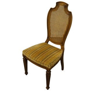 Century Furniture Hickory, Nc Italian Provincial Cane Back Dining Side Chair For Sale
