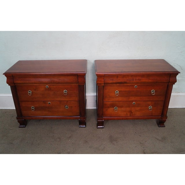 """Ethan Allen British Classics Pair of """"Daryn"""" Chests Nightstands (B) COUNTRY OF ORIGIN: Approx 10 years, America..."""