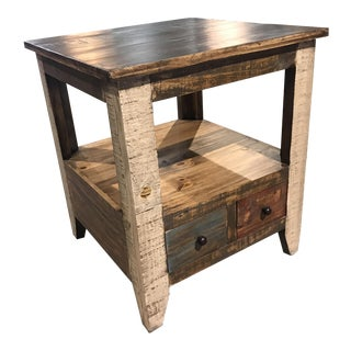 Rustic Vintage Inspired Side Table