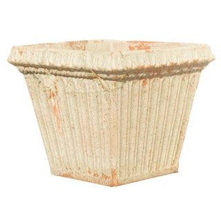 Vintage Fluted Terracotta Planter For Sale