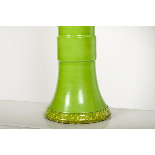 1950s Pair of Green Porcelain Task Lamps For Sale - Image 5 of 10