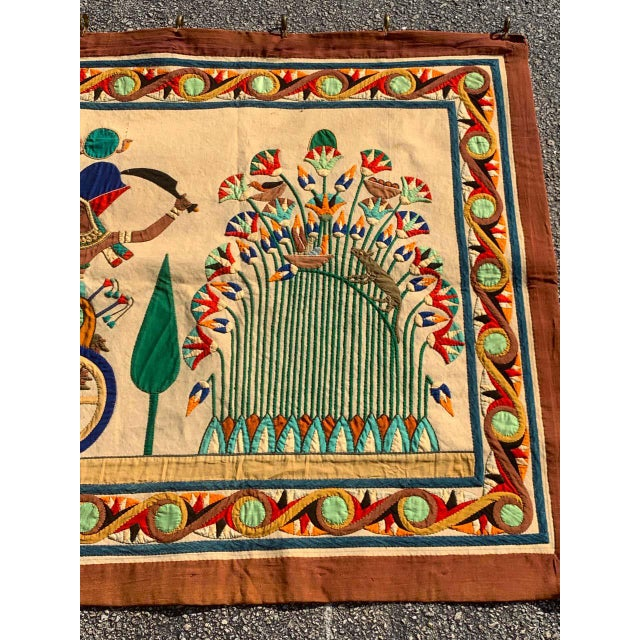 Textile French Grand Tour Egyptian Tomb Tapestry, Circa 1925 For Sale - Image 7 of 9