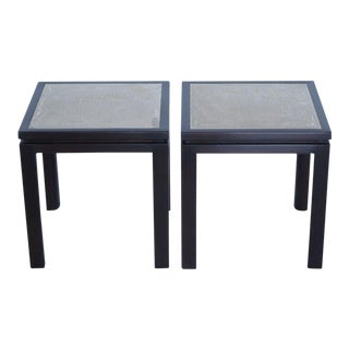Harvey Probber Enamel Square Side Tables - a Pair For Sale
