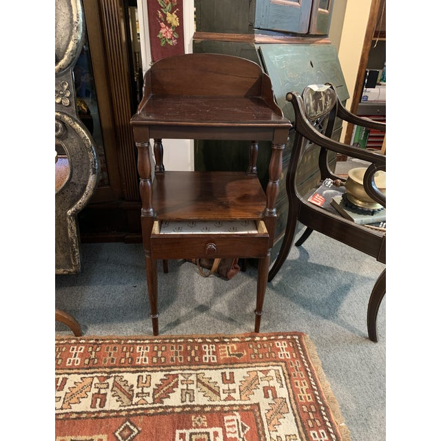 Gallery Back Sheraton Style Wash Stand For Sale - Image 10 of 10