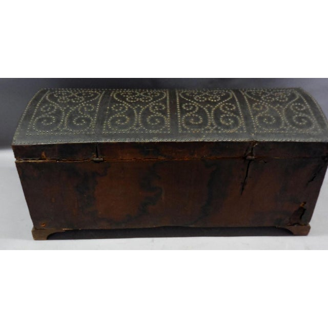 Spanish Leather Trunk For Sale - Image 4 of 11
