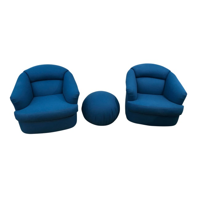 Chairs With Ottoman From Directional- 3 Pieces For Sale