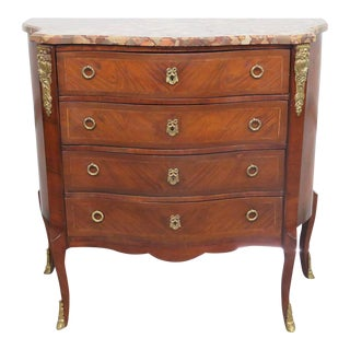 19th C. Louis XV Style Marble Top Commode