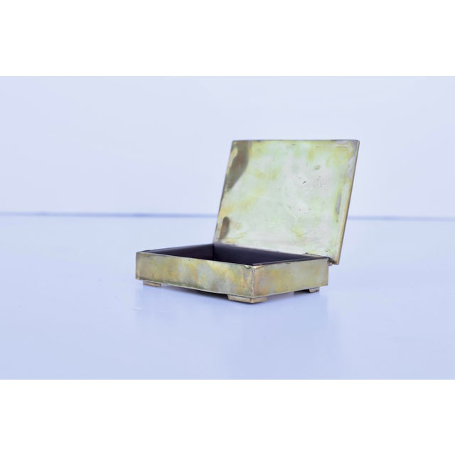 Mid-Century Modern Mexican 1960's Mixed Metals and Stone Box For Sale - Image 3 of 4