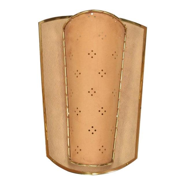 Mid-Century Italian Modernist Shield Sconce For Sale