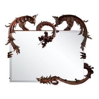 Antique Italian Fantasy Framed Mirror For Sale