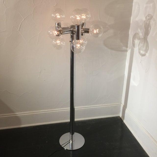 Robert Sonneman Chrome Floor Lamp - Image 3 of 3