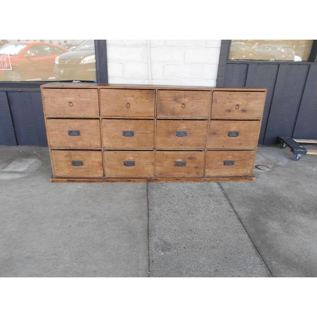 12 Drawer Pine Apothecary Cabinet - Image 3 of 11