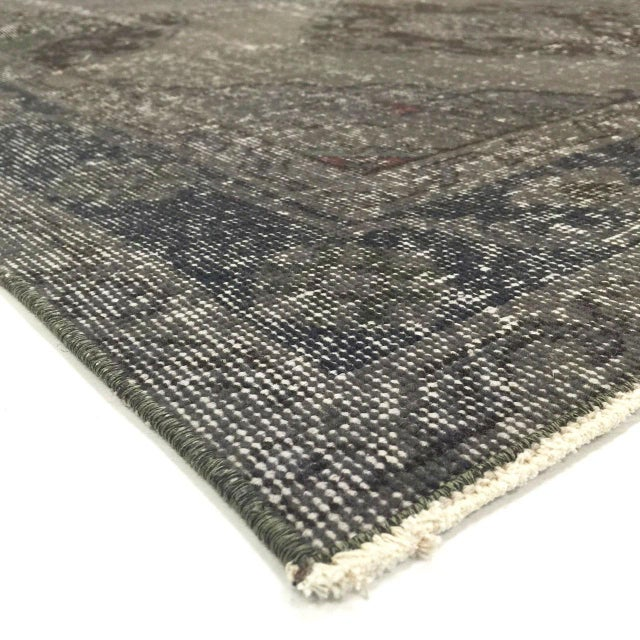 This vintage, overdyed Turkish runner was hand woven in Turkey in the mid 1900's. The colors and pattern have been hand...