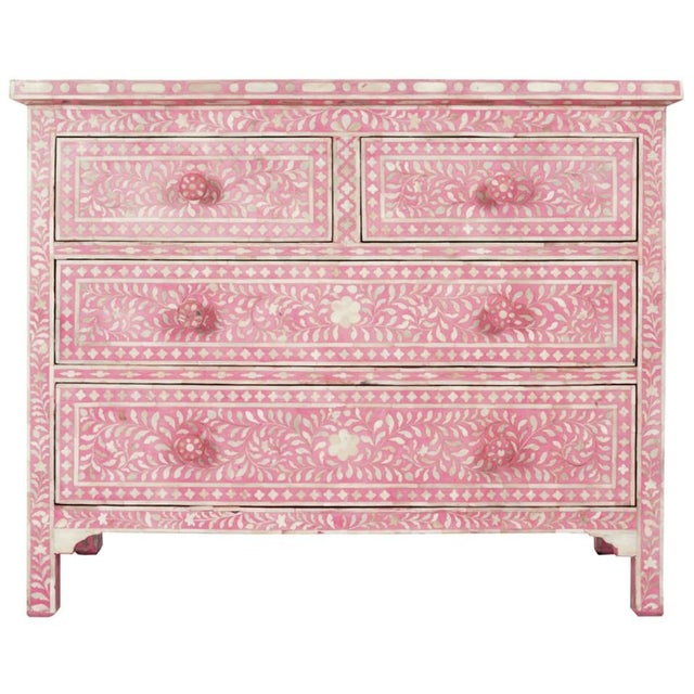 Pink Bone Inlay Dresser - Image 3 of 3