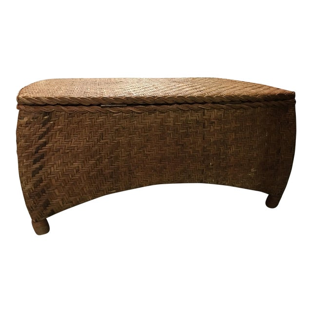 Wicker Center Table/Trunk with Storage - Image 1 of 7