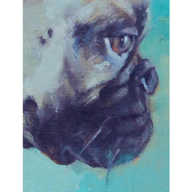 French Bulldog Oil Painting - Image 3 of 5