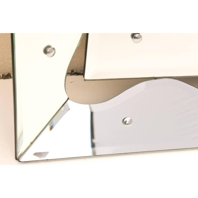Hollywood Regency Monumental Scalloped Horizontal Mirror - Image 8 of 8