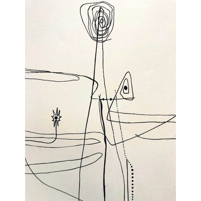Jerry Opper Jerry Opper 1940-50s Abstract Line Print For Sale - Image 4 of 7