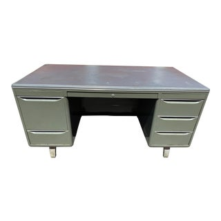 General Fireproofing Metal Tanker Desk For Sale