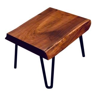 Live Edge Walnut End Table For Sale