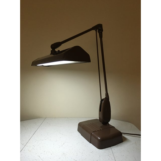 20th Century Industrial Dazor Floating Flourescent Desk Lamp For Sale - Image 10 of 12