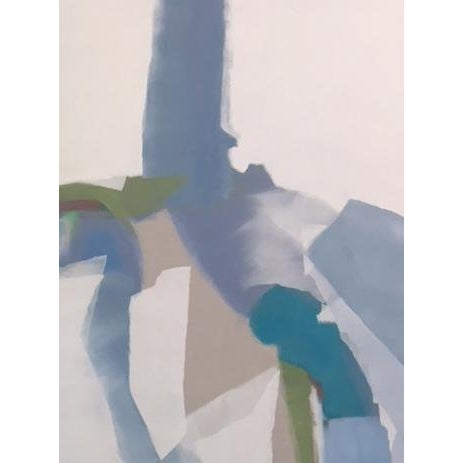 Abstract Contemporary Abstract Lavender and White Painting by Martha Spak For Sale - Image 3 of 3