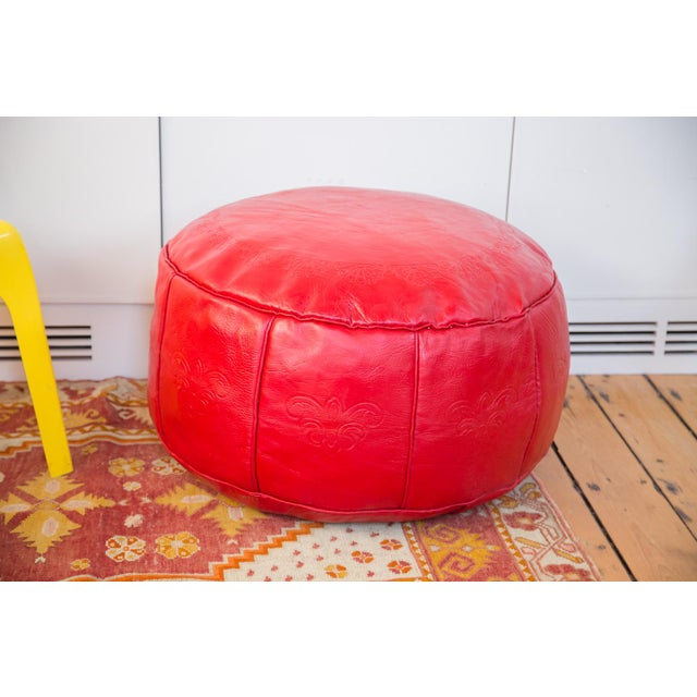 Perfect addition for any space is our Old New House™ exclusive antique revival hand-crafted Moroccan leather pouf ottoman....
