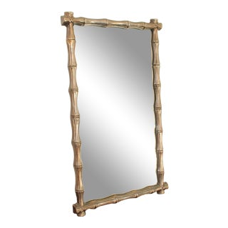 1950s Mid Century Turner Faux Bamboo Mirror For Sale