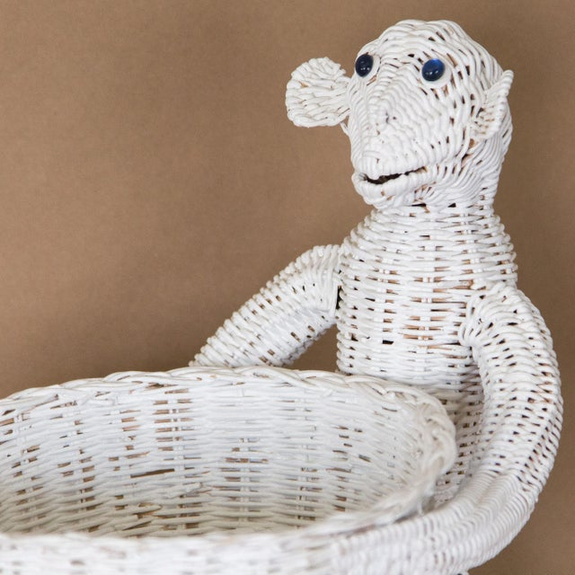 Mid 20th Century Mario Lopez Torres Wicker Monkey Basket For Sale - Image 5 of 11
