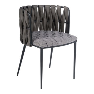 Milano Dining Chair in Gray For Sale