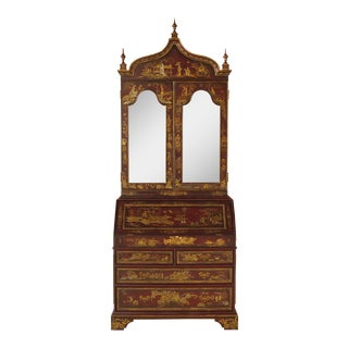 Maitland Smith Stunning Chinoiserie Secretary Desk For Sale