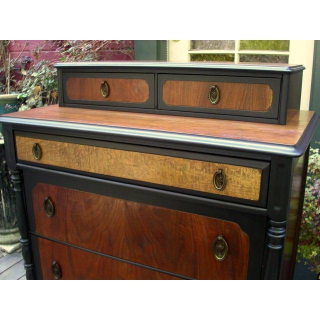 National Furniture Company Heirloom Walnut Highboy Dresser For Sale - Image 5 of 11