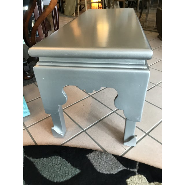 Early 21st Century Painted Silver Rectangular Cocktail Table For Sale - Image 5 of 7