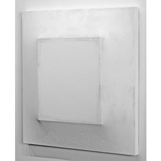 """Minimalist Modern White Artwork """"There's a Block in the Void 120016"""" Preview"""