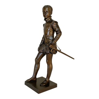 19th Century French Bronze Statue of Young Henri IV For Sale