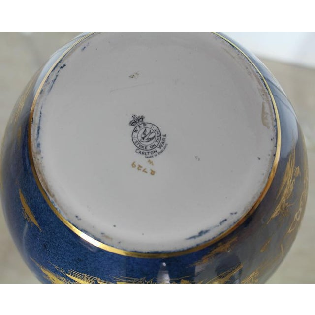 Early 20th Century Carlston Ware Globe Shape Cobalt Blue & Gold Vase For Sale - Image 5 of 5