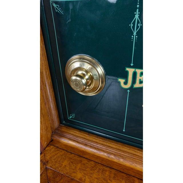 Antique Victorian Oak Cabinet W/Hidden Jewelry Safe -Rare For Sale - Image 4 of 11