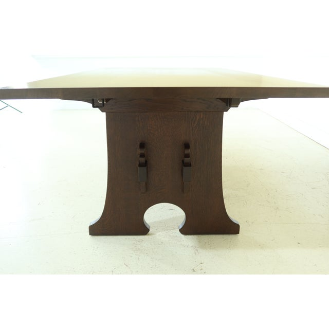 Stickley Stickley Mission Oak Mousehole Dining Room Table For Sale - Image 4 of 13