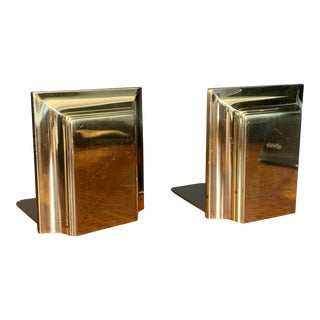 Vintage Spanish Brass Bookends by G and D - a Pair For Sale