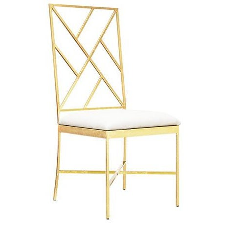 Worlds Away Ashton Gold Chairs, White – Set Of 6 - Image 2 of 2