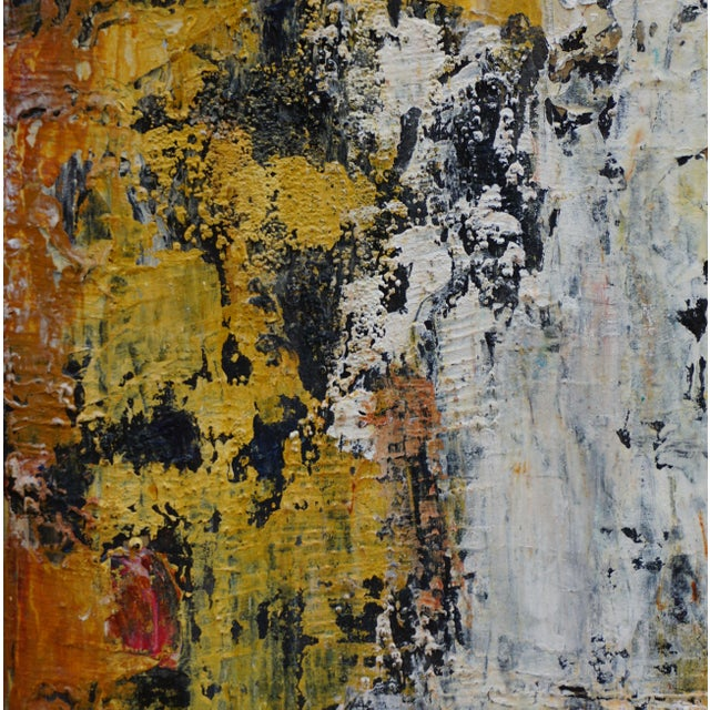 """Laurie MacMillan Laurie MacMillan """"Wall Wabi Sabi"""" Abstract Painting For Sale - Image 4 of 5"""